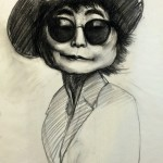 Yoko, 18″x24″, Charcoal on vellum