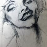 "Debra Harr, 5""x7"", Pencil on paper"