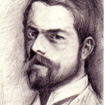 """Drawing after J.S. Sargent, 4""""x6"""", Pencil on paper"""
