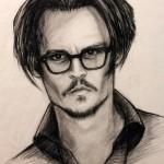Johnny Depp, 18″x24″, Charcoal on vellum