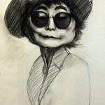 Yoko, 18″x24″, Charcoal on vellum